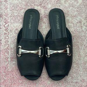 Jeffrey Campbell peep toe loafer mule - 7.5